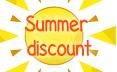Summer discount